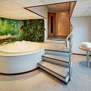 Spa area with sauna and whirlpool | MS Carissima | Bike & Boat Tours