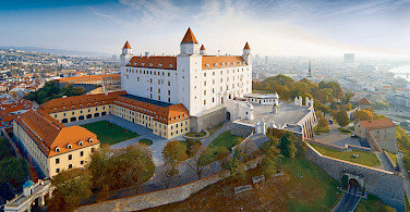 Castle in Bratislava, Slovakia along the Danube River bike tour. Photo courtesy of Radundreisen-Eurocycle
