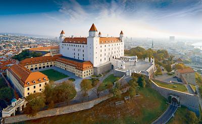 Castle in Bratislava, Slovakia along the Danube River bike tour. ©TO