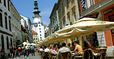 Michael's Gate in Bratislava, Slovakia along the Danube River bike tour. Photo courtesy of Radundreisen-Eurocycle