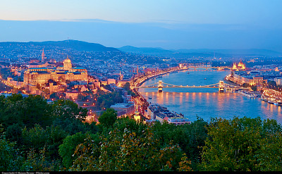 Budapest, Hungary along the Danube River bike tour. Flickr:Moyan Brenn