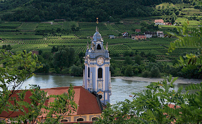 Dürnstein in the Wachau Valley, Krems-Land, Lower Austria. Danube River bike tour. Flickr:jay8085