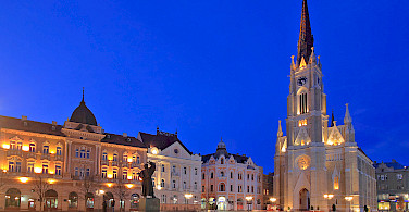 Neogothic Cathedral in Novi Sad, Serbia along the Danube River. Photo courtesy of Radundreisen-Eurocycle