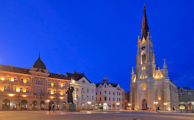 Neo-Gothic Cathedral in Novi Sad, Serbia along the Danube River. ©TO