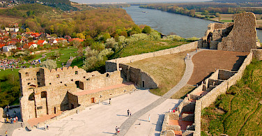 Castle ruins in Devin, Slovakia along the Danube River bike tour. Photo courtesy of Radundreisen-Eurocycle