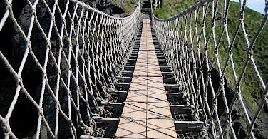 Carrick-a-Rede Rope Bridge on Causeway Beach, Northern Ireland. Photo via Flickr:Todd Slagter