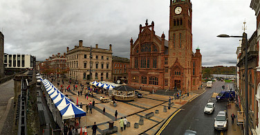 Guildhall in Derry, aka Londonderry, Northern Ireland. Photo via Flickr:Greg Clarke