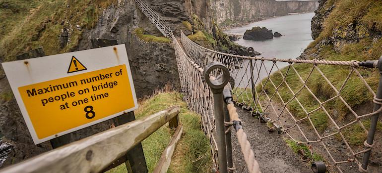 Carrick-a-Rede Rope Bridge, Northern Ireland, United Kingdom. Photo via Flickr:Tony Webster