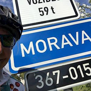 Moravia River Sign