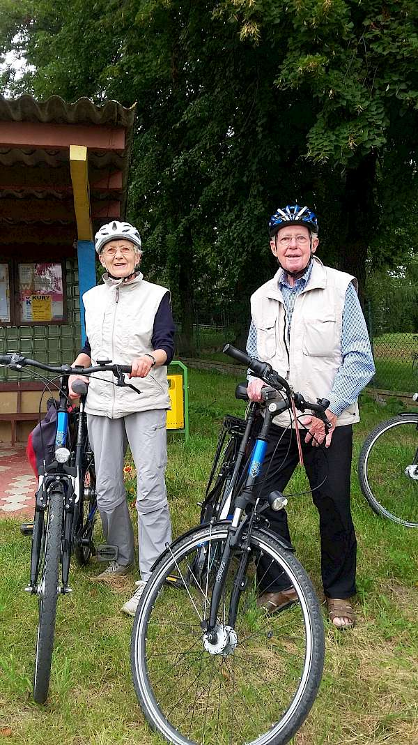 The oldest cyclists on our tour
