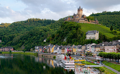 View of Reichsburg along the Mosel River in Cochem. CC:Kai Pilger
