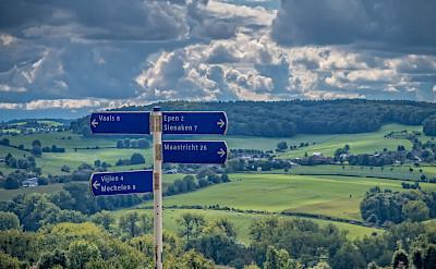 Signs for Epen, Slenaken and Maastricht in Limburg, the Netherlands. Flickr:Frans Berkelaar