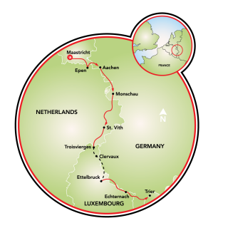 Four Countries Rails to Trails Map