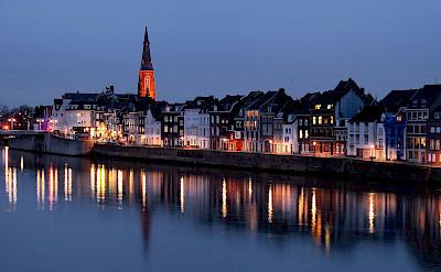 Maastricht along the Maas River, Limburg, the Netherlands. Flickr:Jorge Franganillo