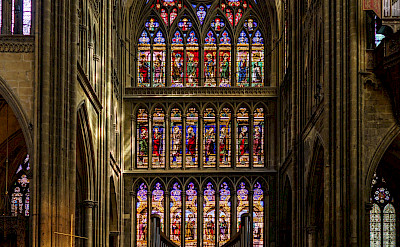 Gorgeous Cathedral in Metz, France. Flickr:x1klima