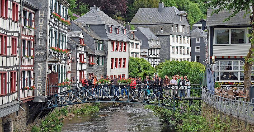 Monschau, Germany on the Four Countries Bike Tour. Flickr:Gunter Hentschel