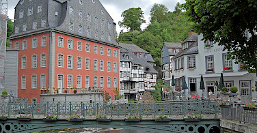 Bike rest in picturesque Monschau, Germany. Photo via Flickr:Gunter Hentschel