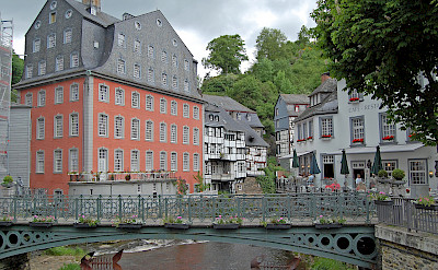 Bike rest in picturesque Monschau, Germany. Flickr:Gunter Hentschel