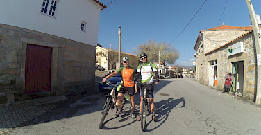 Hennie biking the Douro Valley Bike Tour.