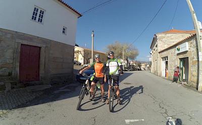 Hennie biking the Douro Valley Bike Tour.
