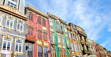 Building facades in Old Town of Porto, Portugal. Photo via Flickr:Daniel Cukier