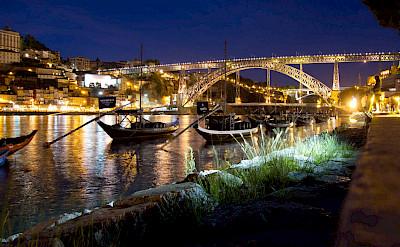 Nighttime lights in Porto, Portugal. Flickr:Chris Stephenson