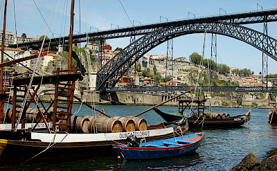 Old vessels on the Douro River in Porto, Portugal. Flickr:Lausvensson