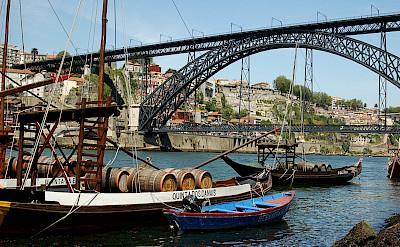 Old vessels on the Douro River in Porto, Portugal. Flickr:Lausvensson