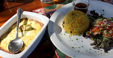 South African cuisine. Photo courtesy of our local partner, Panorama Pedals