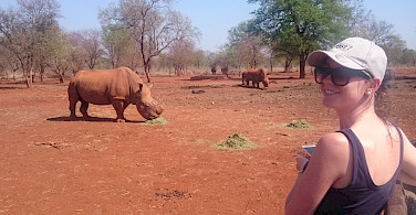 Rhinoceros farm on the bike tour. South Africa. Photo courtesy of our local partner, Panorama Pedals