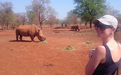 Rhinoceros farm on the bike tour. South Africa. Photo via TO