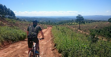 Biking the South Africa tour. Photo courtesy of our local partner, Panorama Pedals