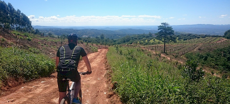 Biking the South Africa tour. Photo courtesy of Tour Operator