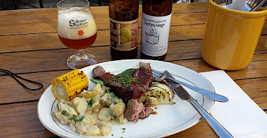 Lamb and beer lunch in Oslo, Norway. Photo via Flickr:Bernt Rostad