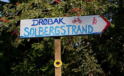 Signs along the Oslofjord Bike Tour. Photo courtesy of Merlot Reiser