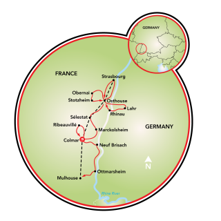 Alsace - Colmar and Osthouse Map