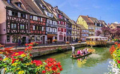 Biking and boat ride in Colmar, Alsace, France. Flickr:Kiefer