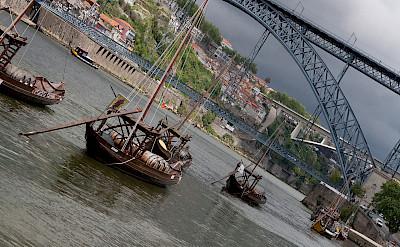 Porto on the Duoro River, Portugal. Wikimedia Commons:zoutedrop