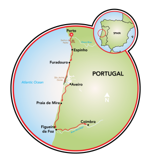 Costa Prateada de Portugal Map
