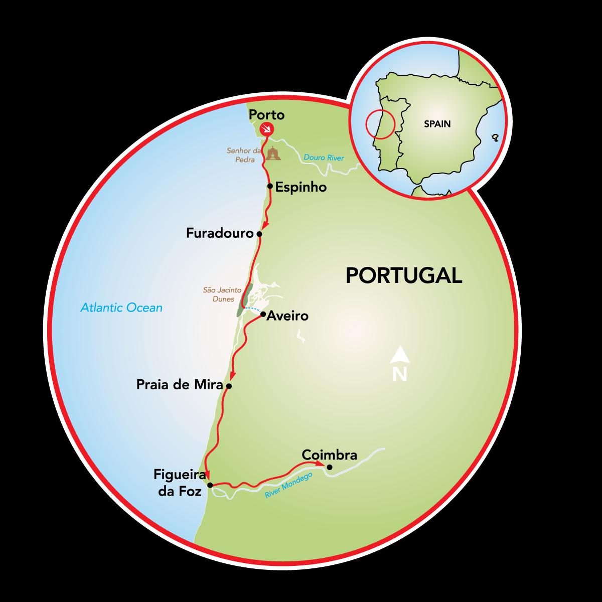 Silver Coast Of Portugal Portugal Tripsite - Portugal map silver coast