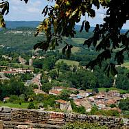 Hilltop view of Cordes-sur-Ciel, department Tarn, France. Photo via Flickr:Stephane Goldstein