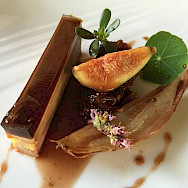 Fine dining at Hotel-Restaurant Les Magnolias in Plaisance, Aveyron, France. Photo via TO.