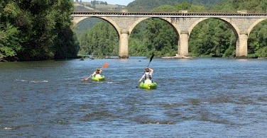 Kayaking is also available at Hotel-Restaurant Les Magnolias in Plaisance, Aveyron, France.