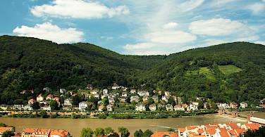 Heidelberg at the confluence of the Mainz and Neckar Rivers, Germany. Photo via Flickr:Dmytrok