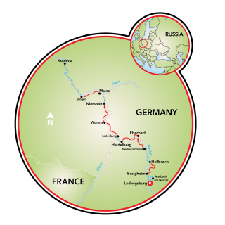 Ludwigsburg to Koblenz Map