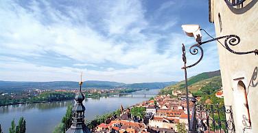 Biking in Krems along the Danube River, Lower Austria. Photo by Gregor Semrad