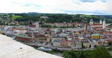 Panorama of Passau, Bavaria, Germany. Photo via Flickr:Brian Burger