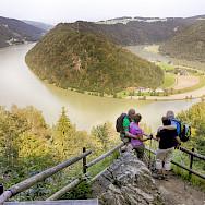 The famous Danube loop Schlögen in the Wachau Valley, a UNESCO World Heritage Site.