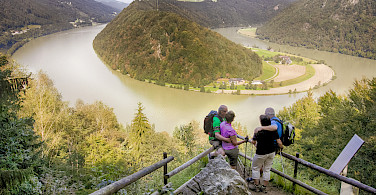 The famous Danube loop Schlögen in the Wachau Valley, a UNESCO World Heritage Site.