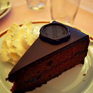 Sacher Torte cake in Vienna, Austria. Flickr:Kelly Schott